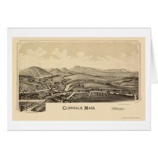 Glendale, mapa panorâmico das MÃES - 1890 Cartão