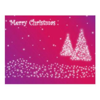 Glittery cor-de-rosa do Feliz Natal Cartão Postal