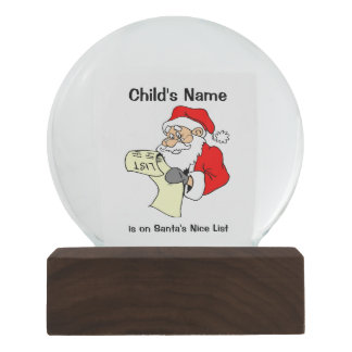 Globo agradável da neve do Natal da lista do papai
