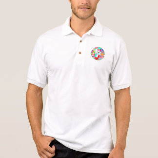 globo da bandeira t-shirt polo