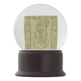 Globo da neve do ônix do Merlot do ouro do boneco