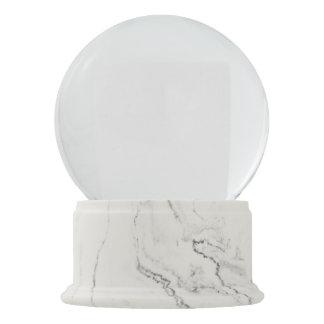 Globo de mármore branco da neve do revestimento globo de neve