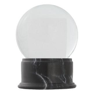 Globo de mármore preto da neve do revestimento globo de neve