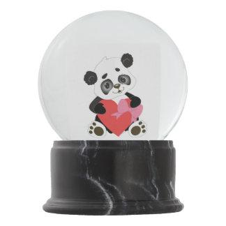 Globo De Neve Eu te amo urso de panda do bebê com coração