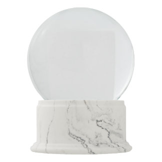 Globo De Neve Globo de mármore branco da neve do revestimento