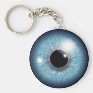 Globo ocular azul chaveiro