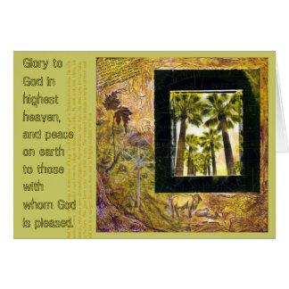 Glória ao cartão de Natal do deus