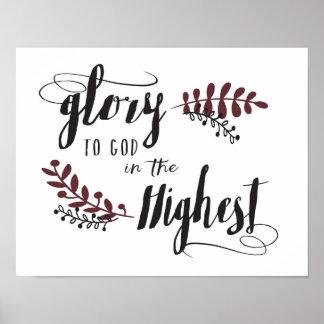 Glória ao deus no poster o mais alto