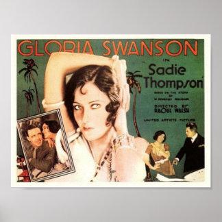 """Gloria Swanson em """"Sadie Thompson """" Posteres"""