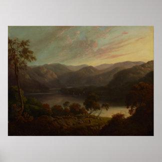 Glover de John - opinião da paisagem em Cumberland Poster