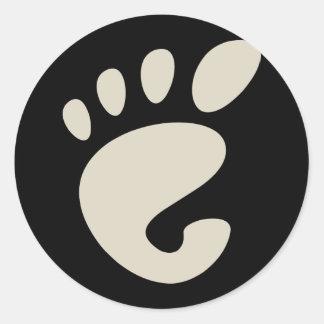 Gnomo - Linux - OSS FSF Adesivo