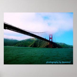 Golden gate bridge/fotografia pelo jbpeanut poster