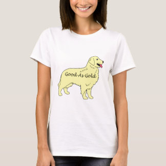 Golden retriever bom como o t-shirt do ouro