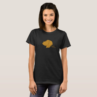 Golden Retriever cabeça silhueta T-shirts
