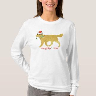 Golden retriever do Natal impertinente mas Camiseta