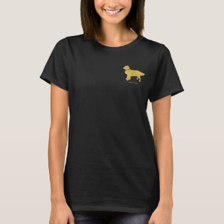 Golden retriever formal do cão personalizado camiseta