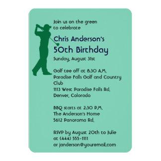Golf o 50th convite do aniversário