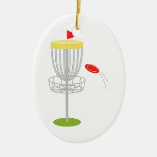 Golfe do disco do Frisbee Ornamento De Cerâmica Oval