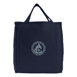 Golfinho celta bolsas bordadas