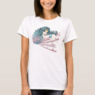 Golfinho e listras da mulher maravilha camiseta