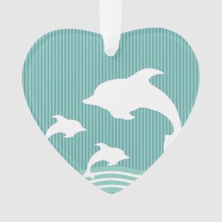 Golfinhos azuis da cerceta no teste padrão do jogo
