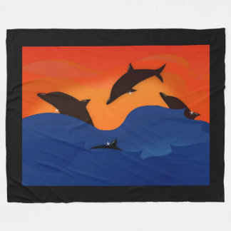 Golfinhos Cobertor De Velo