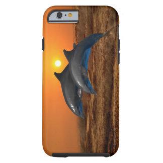 Golfinhos no por do sol capa tough para iPhone 6