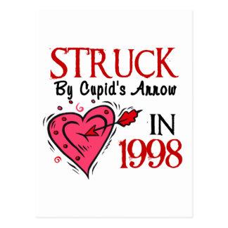 Golpeado pela seta do Cupido em 1998 Cartao Postal