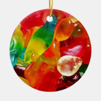 goma da geléia ornamento de cerâmica redondo