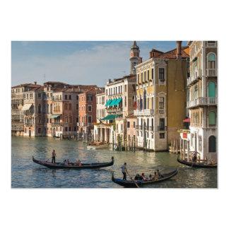 Gôndola e palácios, canal grande, Veneza, Italia Convite Personalizado