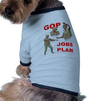 GOP, republicanos, plano dos trabalhos Camisas Para Cães