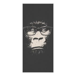 Gorila do hipster com vidros 10.16 x 22.86cm panfleto