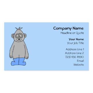 Gorila em botas azuis cartão de visita