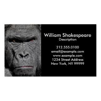 Gorila irritado sua foto cartão de visita