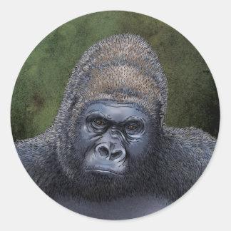 Gorila psto em perigo adesivo
