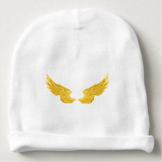 Gorro Para Bebê Asas douradas do anjo de Falln