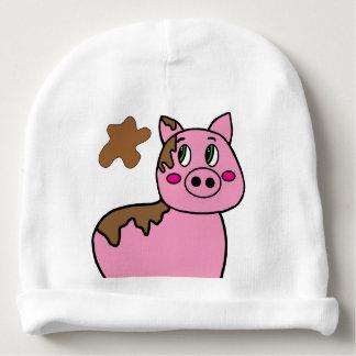 Gorro Para Bebê Beanie do bebê do porco dos chapéus do bebê
