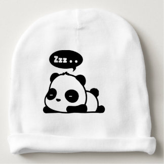 Gorro Para Bebê beenie do algodão do bebê com a panda sonolento do