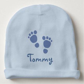 Gorro Para Bebê Chapéu azul da criança das pegadas