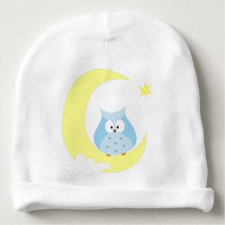Gorro Para Bebê Coruja que senta-se na lua