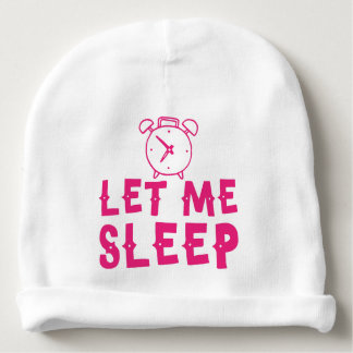 Gorro Para Bebê deixe-me dormir rosa com despertador