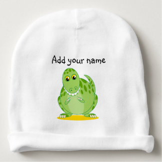 Gorro Para Bebê Dinossauro verde bonito de Rex de T-Rex ou de