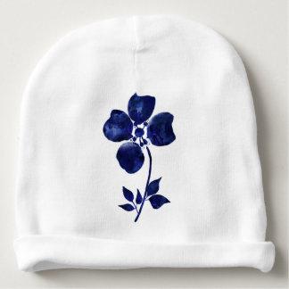 Gorro Para Bebê Flor azul