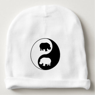 Gorro Para Bebê Hipopótamo de Ying yang