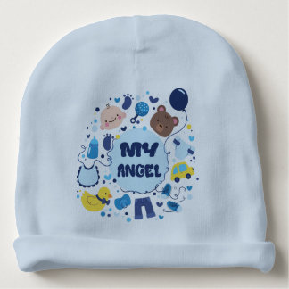 Gorro Para Bebê Meu beanie do bebê do anjo