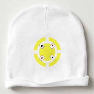 Gorro Para Bebê Microplaqueta de póquer - amarelo