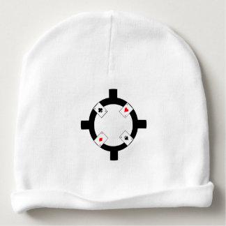 Gorro Para Bebê Microplaqueta de póquer - branco