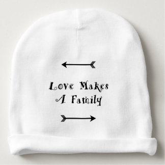 Gorro Para Bebê O amor faz uma família - adopção da parentalidade