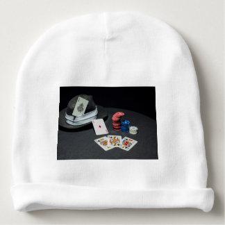 Gorro Para Bebê O póquer carda o chapéu do gângster