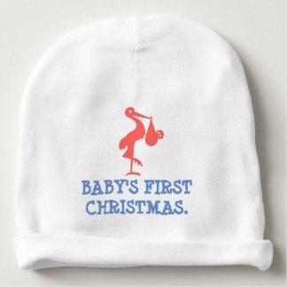Gorro Para Bebê O primeiro Natal do bebê - Beanie feito sob